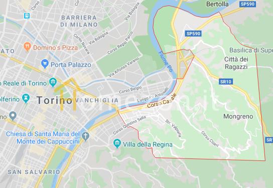 Mappa del quartiere Madonna del Pilone