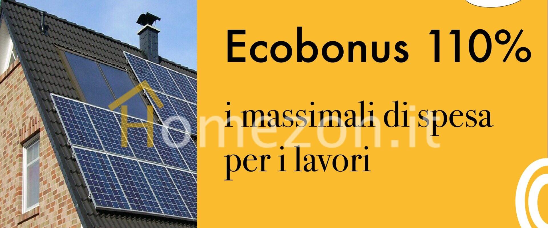ecobonus 110% massimali spesa